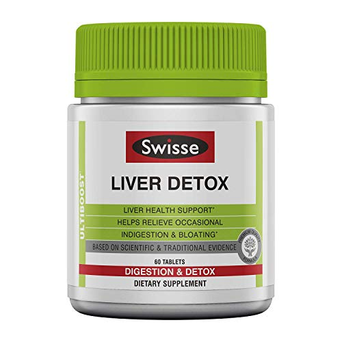 (Swisse Ultiboost Liver Detox | Supports Liver Health & Function | Provides Relief for Indigestion & Bloating | Milk Thistle, Artichoke & Tumeric | 60 Tablets )