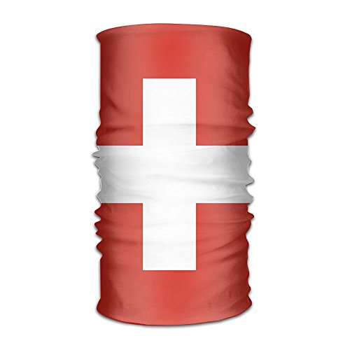 Price comparison product image Shi Fu Swiss Flag Unisex Outdoor Sport Scarf Headbands Bandana Mask Neck Gaiter Head Wrap Sweatband Headwear