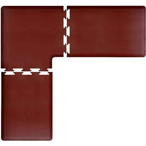 WellnessMats PuzzlePiece Collection L Series Burgundy Anti-Fatigue Mat, 7.5 x 7 Foot by WellnessMats