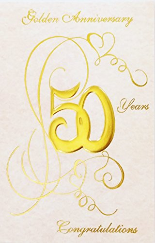 - Golden Anniversary - 50 Years - Happy 50th Wedding Greeting Card -