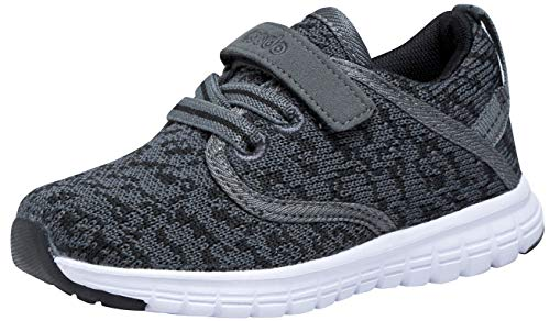 (COODO Toddler Kid's Sneakers Boys Girls Cute Casual Running Shoes (8 Toddler,Dark Grey))