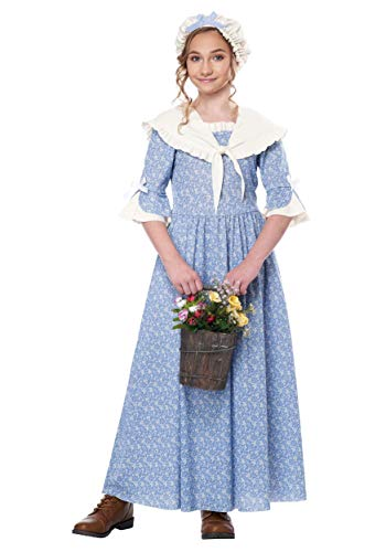 California Costumes Colonial Village Girl Child Costume-X-Large ()