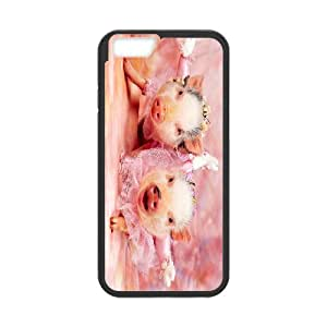 """Cute pet baby pig Hard Plastic phone Case Cover For Apple Iphone 6,4.7"""" screen Cases XFZ398130"""