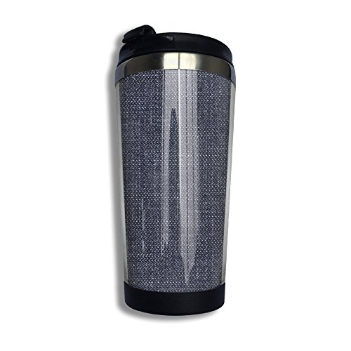 XIYX Jeans Dark Black Flip Top Lid Double Wall Stainless Steel Cup Tumbler With Liquid Tight Coffee Mug Vacuum Sealed Drink Bottle