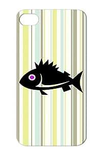TPU Purple For Iphone 4s Marine Life Animals Nature Design Fish Vector Wild Life Art Fish Case