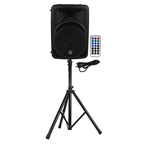 "Rockville RPG10BT 10"" Powered 600W DJ PA Speaker BlueTooth,U"