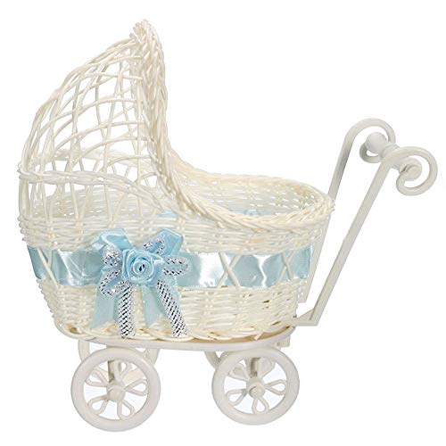 Used, SHOPPER's CHOICE Baby Shower White Wicker Baby Carriage for sale  Delivered anywhere in USA