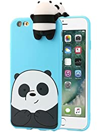 3D Cartoon Animals Cute Bare Bears Soft Silicone Case For IPhone 7 Plus 5.5 Inch / IPhone 6\6s 4.7 / IPhone 6\6s Plus 5.5