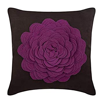 The HomeCentric Designer Pink Decorative Pillowcases 16x16 inch, Suede Throw Pillows for Couch, Nature & Floral, Rose, Origami, Modern Cushion Cover ...