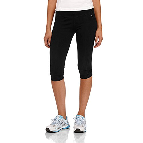 Danskin Now Women's Active Performance Cotton Sport Capri Tights (XXL, Black)