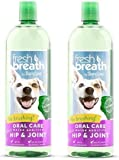 TropiClean Fresh Breath Plus Hip & Joint Oral Care Water Additive for Pets (2 Pack)