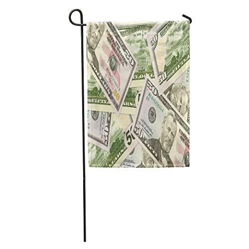 Semtomn Garden Flag Crisis Some 50 Us Dollar Bank Notes Banking Bill Breakdown Home Yard House Decor Barnner Outdoor Stand 28x40 Inches Flag