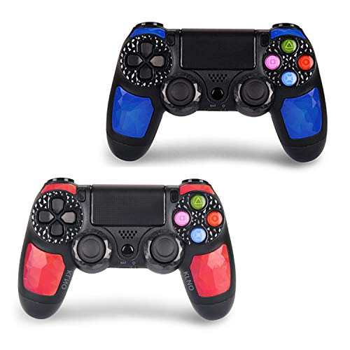 AUGEX 2 Pack Game Controllers Work with P-4,Wireless Controller Compatible with P-4 Console;AUGEX Remote Control with…