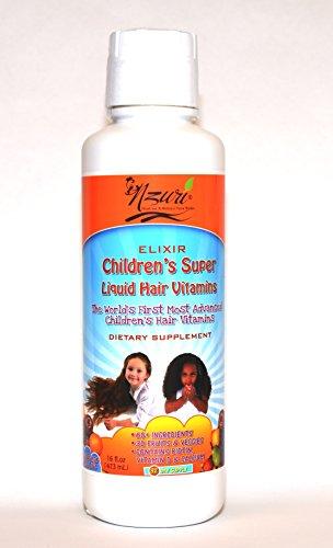 Nzuri Elixir Children's Liquid Hair Vitamins, 16 Ounce