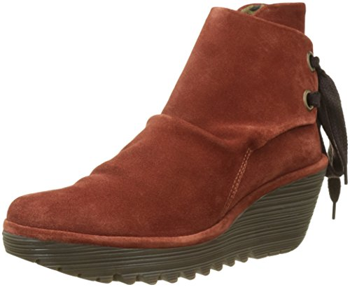 FLY Taupe 8 Boot 39 Women's Yama oil suede brick EU M London Suede US rgnfRwBxrq