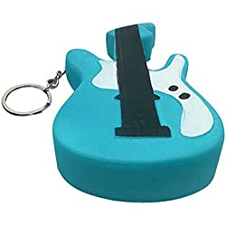 Yezike Slow Rising Toy,Jumbo Stress Stretch Guitar Squishy Toy, Cream Scented Simulation Cute Animals Toys Gift for Kids Lovely Stress Relief Toy (Blue)