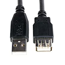Hentek USB 2.0 A Male to A Female Extension Cable-6.5 Ft(2 meters) (RC-6-USB3-AM-AF-BK)