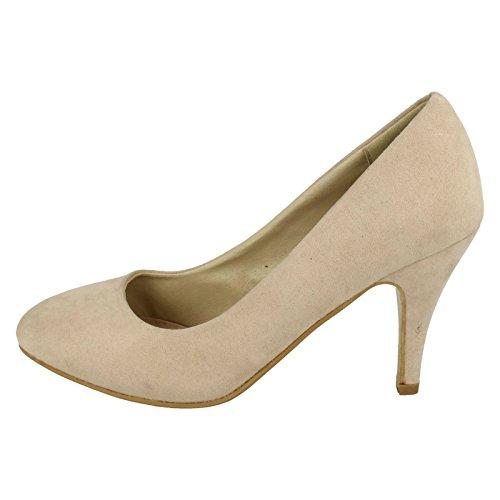 Court In Shoes Nude beige Spot On D Style F9677 Microfibra Ladies XwtUZ4nq