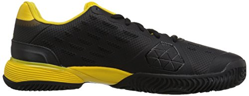 Pictures of adidas Kids' Barricade xJ Tennis Shoe BY9918 Black/White/Yellow 3