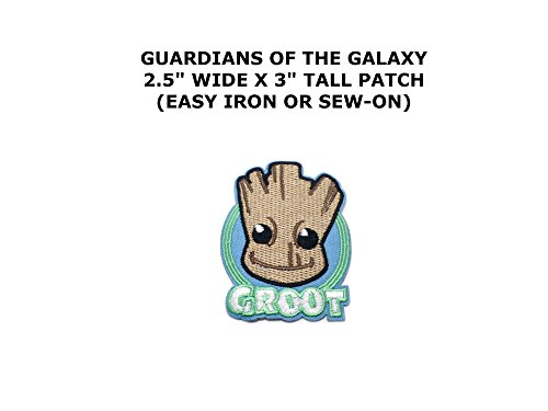 Baby Groot Text Superhero Embroidered Iron/Sew-on Comics Cartoon Theme Logo Patch/Applique (Baby Godzilla Costume)