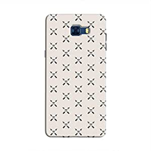 Cover It Up - Crossed Arrows Galaxy C7 ProHard Case