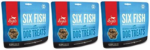 Orijen 6 Fish Dog (Orijen Six-Fish Freeze-dried Treats, 3.25 Ounces Per Pack (3 Pack))