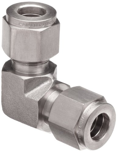 0.375 Elbow Compression - Brennan N2500-06-06-SS Stainless Steel Compression Tube Fitting, 90 Degree Elbow, 3/8