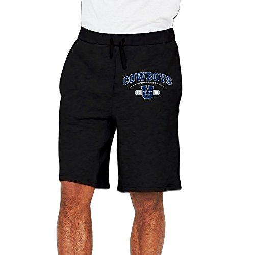 Bro-Custom Cowboy CD Dalla Shorts Running Pants For Men's Size XXL Black (Dallas Cowboys Shorts)