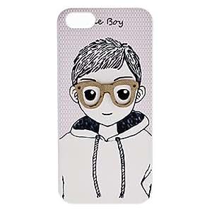 Glasses Boy Design Hard Case for iPhone 5/5S