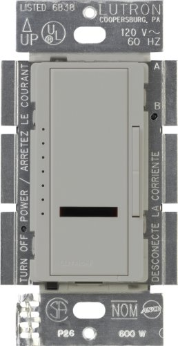 Lutron MIR-600-GR Maestro Ir 600-Watt Single-Pole Digital Dimmer, Gray - Maestro Ir Dimmer
