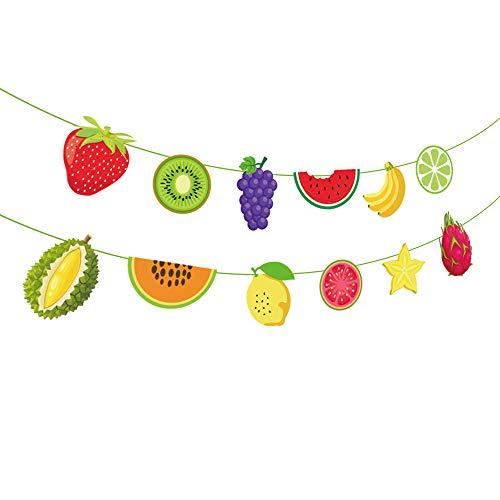 Tutti Frutti Banner,Watermelon Banner,Strawberry Banner,Lemon Banner,GrapefruitBanner,Tutti Frutti/Luau/Tiki/Tropical/Hawaiian Party Supplies /Decoration for Girls,Boys,Kids,Home,School,Baby Showers,1
