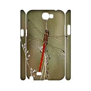 Animal Dragonfly 3D Custom Durable Hard Plastic Case Cover LUQ207812 For Samsung Galaxy Note 2 N7100