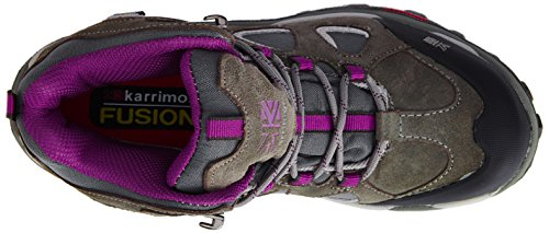 Karrimor Toledo Weathertite - High Rise Hiking de cuero mujer gris - Grey (Grey/Purple)