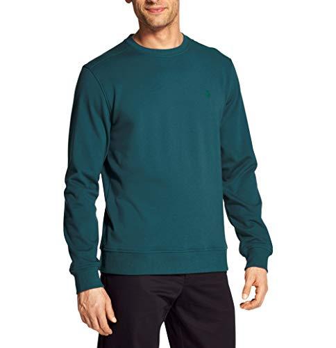 Logo Performance Fleece Pullovers - IZOD Men's Advantage Performance Solid Fleece Crew, Legion Blue, Large Slim