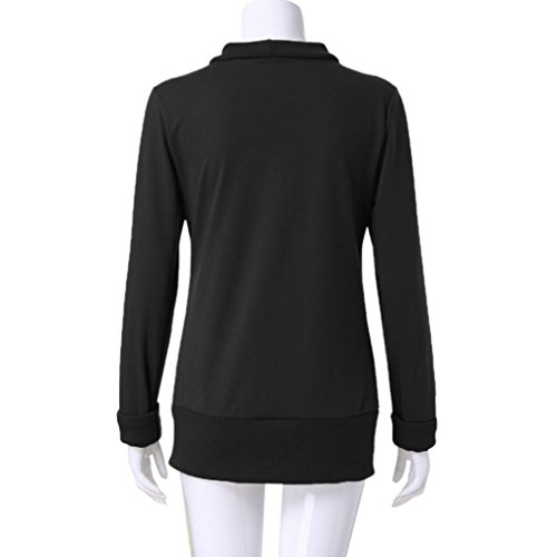 iTLOTL Women's Business V-neck Metal Buttons Thicken Sweater Solid Color Long Sleeve(Black ,US-6/CN-M) by iTLOTL (Image #5)