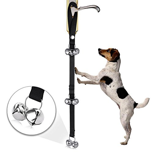 Dog Bells for Potty Training, ANGTUO Adjustable Durable Nylon with Puppy Tinkle (German Shepherd Chihuahua)