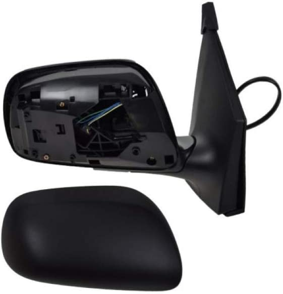 Fits 09-13 Toyota Corolla Right Passenger Power Mirror Unpainted Black With Heat