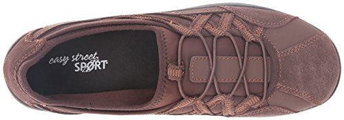 Easy Street Women's Laurel Flat Brown Leather/Suede Leather 5UDYCw