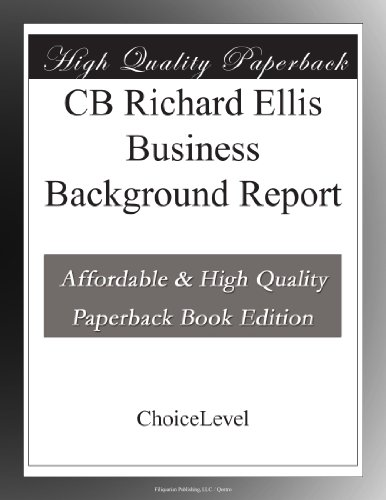 Cb Richard Ellis Business Background Report