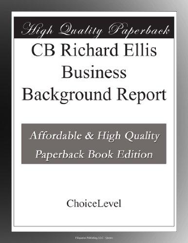Cb Richard Ellis Business Background Report
