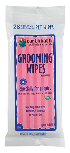 Earthbath 28 Count Puppy Pet Grooming Wipes (2 Pack) by Earthbath