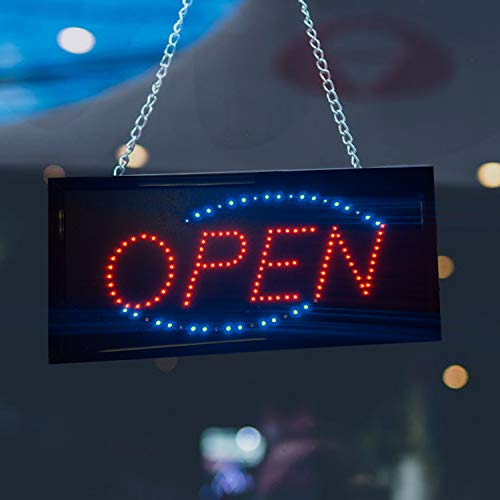 Sign Neon Open Abierto - Open Neon Sign, LED Business Sign - 10