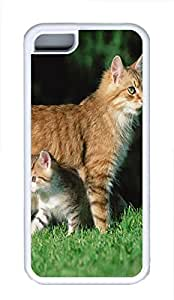 iPhone 5C Case Mother Cat And Son TPU Custom iPhone 5C Case Cover White