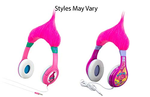 - Trolls Poppy Kid Friendly Headphones with Built in Volume Limiting Feature for Kid Friendly Safe Listening