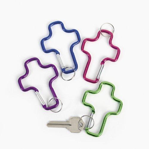 Metallic Aluminum Cross Clip Key Chains (1 - Keychains Aluminum Cross Clip