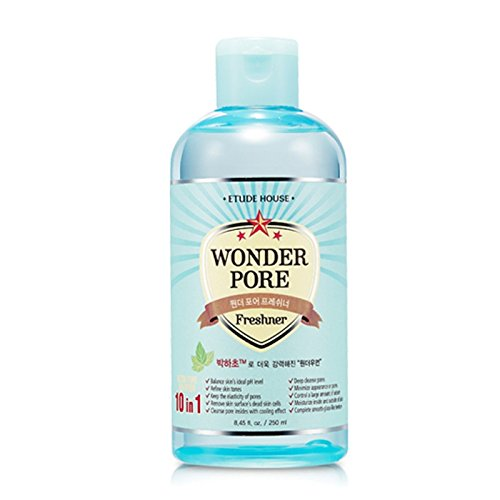 Etude house Wonder Pore Freshner 250ml Facial Cleansers (10 in 1, Pore Care, Preventing Enlarged Pores) (2 Pack) ES32-T250-PK2