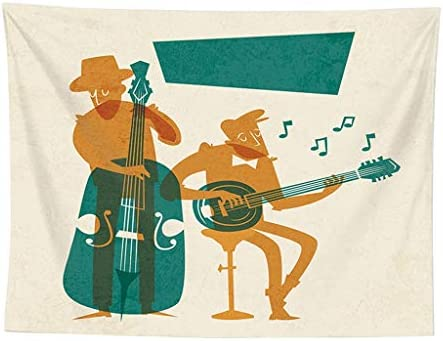 ZOELOVE Tapiz Tapices Tapicería Manto De Cama Picnic Toalla De Playa Decoracion De Pared Esterilla De Yoga Banda del búho de la Guitarra,D: Amazon.es: Hogar