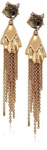 Alexis Bittar Crystal Studded Dangling Tassel Post Drop Earrings by Alexis Bittar