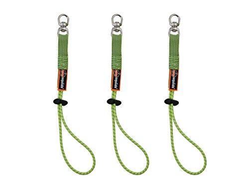 Squids 3713 Elastic Loop Tool Tails Swivel, 10-Pound, Lime (Tool Lanyard)