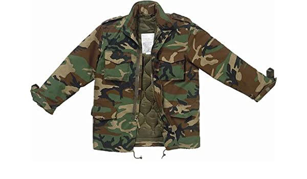 Amazon.com  Woodland Camouflage Military M-65 Field Jacket 7991 Size  X-Small  Military Coats And Jackets  Clothing 985307e6cac